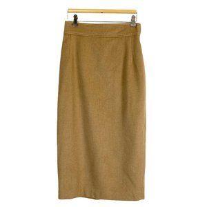Ralph Lauren Pencil Skirt Carmel Brown Wool Blend